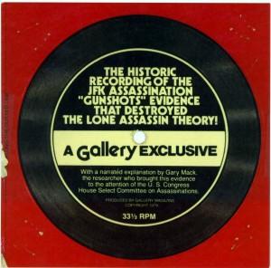 Il disco acquistato nel 1979 da Steve Barber, in allegato alla rivista Gallery.